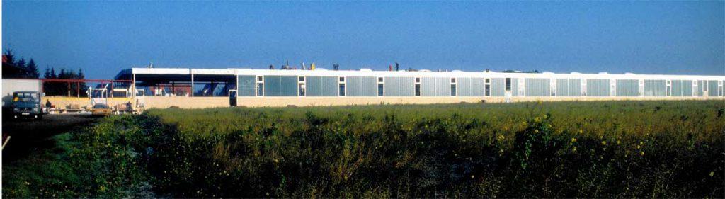 Neubau einer Halle inklusive Verbindungsgang zum Rest des Werks
