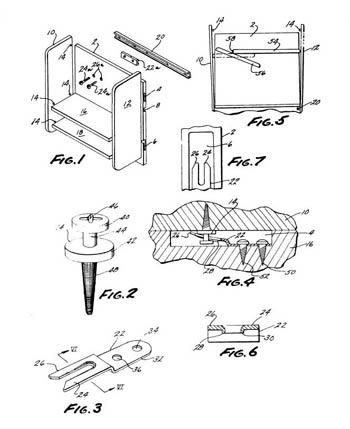 2. Patentanmeldung einer Vorrichtung zum Verbinden einer ersten Möbelwand