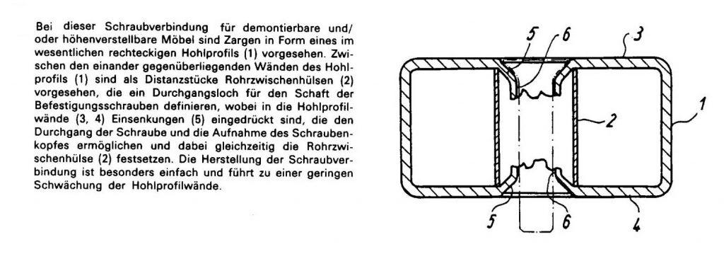 Die 4. Patentanmeldung, eine Schraubverbindung